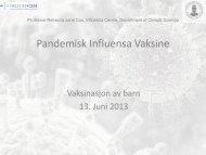 Oppfølging av helsearbeidere og risikopasienter etter influensa ...