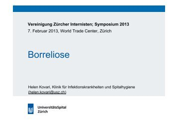 Borreliose - Vereinigung Zuercher Internisten