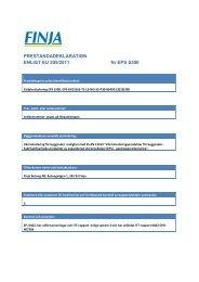 PRESTANDADEKLARATION ENLIGT EU 305/2011 Nr EPS ... - Finja