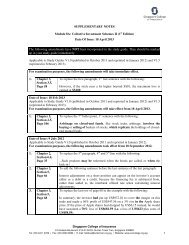 SUPPLEMENTARY NOTES Module 8A: Collective Investment ...