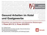 Gesund Arbeiten im Hotel und Gastgewerbe - Österreichische ...
