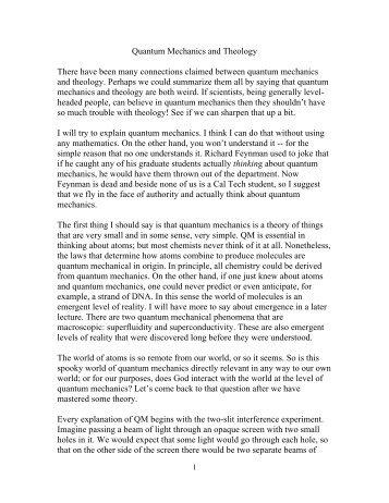 quantum physics and theology pdf