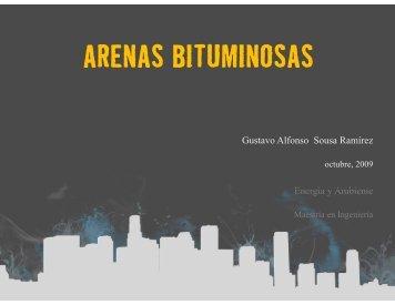 ARENAS BITUMINOSAS