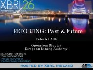 MAIN5. Reporting: Past and Future, Peter Mihalik, EBA
