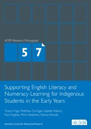 Supporting English Literacy and Numeracy Learning for Indigenous ...