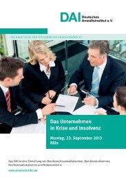 Das Unternehmen in Krise und Insolvenz.pdf - Deutsches ...