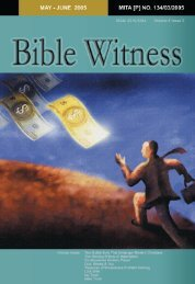 Materialism - Bible Witness Media Ministry