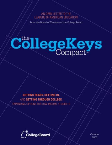 CollegeKeys Compact - College Board Advocacy & Policy Center