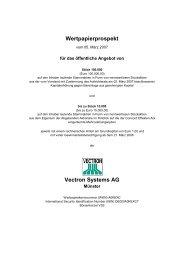 Wertpapierprospekt Vectron Systems AG