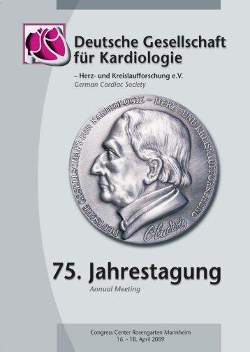 Herz - 75. Jahrestagung 2009 der Deutschen Gesellschaft für ...
