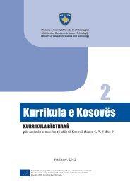 KURRIKULA E KOSOVËS KURRIKULA BËRTHAMË PËR ARSIMIN ...