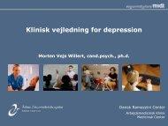 Klinisk vejledning for depression - DASAM