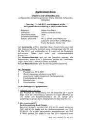 Begräbnisbezirksversammlung vom 17.6.2012
