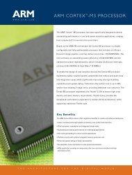 ARM Cortex M-3 Processor Datasheet - Energy Micro
