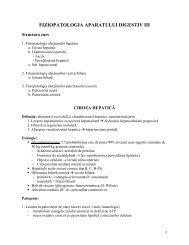 FIZIOPATOLOGIA APARATULUI DIGESTIV III - OvidiusMD