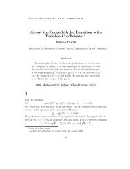 About the Second-Order Equation with Variable Coefficients 1