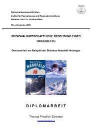 Regionalwirtschaftliche Bedeutung eines Skigebiets - RW Oberwallis