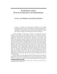 state in society in indonesia - Southeast Asia Program - Cornell ...
