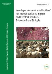 net market positions in crop and livestock markets