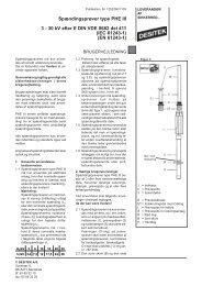 Spændingsprøver type PHE III 3 - 30 kV efter E DIN ... - DESITEK A/S