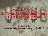 Ural and Dnepr Generators and Alternators Part I - Good Karma ...
