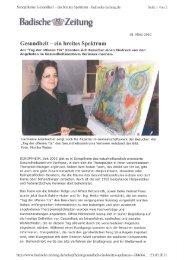 2010/03/18 Gesundheit - ein breites Spektrum - Verimeer Heilpraktiker