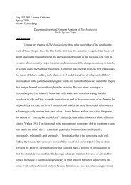 Deconstructionist and Feminist Analysis of The Awakening