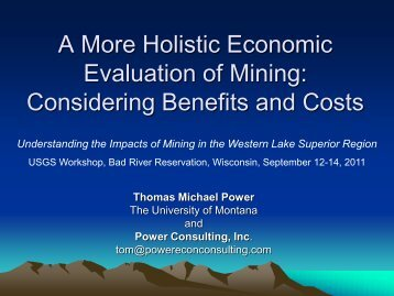 Mining and Local Economic Well Being - Minnesota - USGS