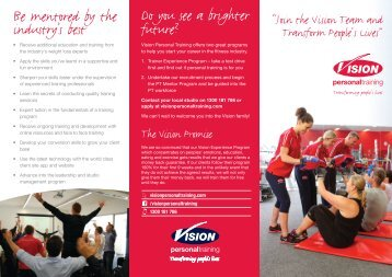 to download the brochure - Vision Personal Training