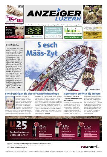 Anzeiger Luzern, Ausgabe 40, 9. Oktober 2013