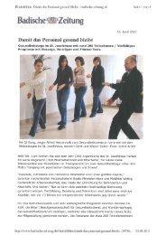 2010/04/16 Damit das Personal gesund bleibt - Verimeer Heilpraktiker