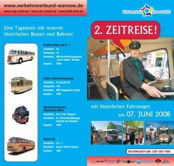 Preis pro Person: 23 Euro - Verkehrsverbund Warnow