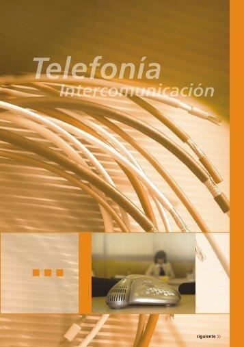 telefonia intercomunicaciones PDF - Cables Epuyen SRL