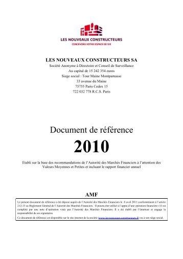 les nouveaux constructeurs sa - Paper Audit & Conseil