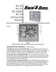 RC-C Manual - Rain Bird