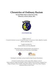 Chronicles of Ordinary Racism - Cronache di ordinario razzismo