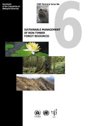 Sustainable management of non-timber forest resources