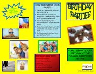 Birthday Party Brochure (Read-Only) - Town of St. Marys