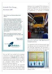 Icelandic New Energy Newsletter 2007