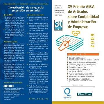 XV Premio AECA de Artículos sobre Contabilidad y Administración ...