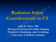 Radiation Safety Considerations in CT - Bone Radiology