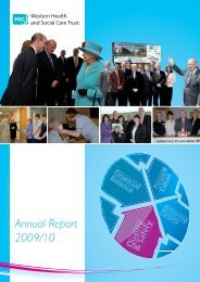 Annual Report 2009/10 - Western Health and Social Care Trust