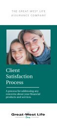 Client Satisfaction Process - Great-West Life