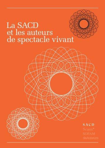 La SACD et les auteurs de spectacle vivant