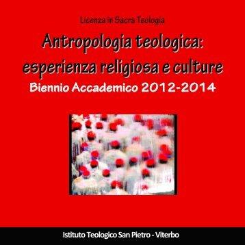 Brochure AA 2012/2013 - Istituto Teologico San Pietro