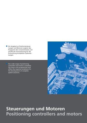 Steuerungen und Motoren Positioning controllers and motors