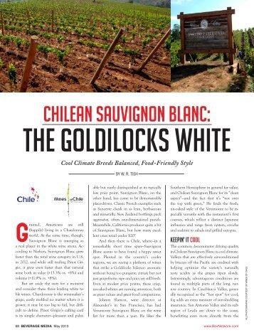 Chilean Sauvignon Blanc: The Goldilocks White - Vineyard Brands