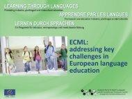 ECML's Programme of Activities - ALTE