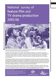 National Survey if feature film and TV drama 2006 - South Australian ...