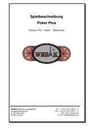 Spielbeschreibung Poker Plus - Webak